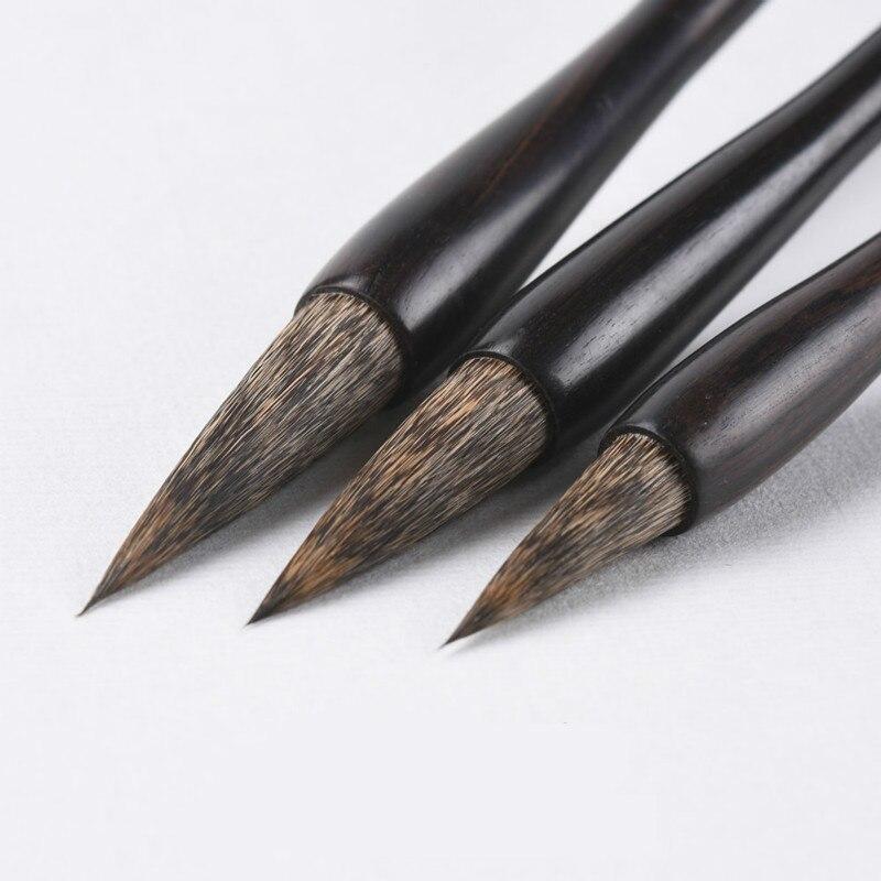 Ofis ve Okul Malzemeleri'ten Boya Fırçaları'de Lüks Fare Bıyık Fırça Kalem Seti Çin Geleneksel Kaligrafi Fırçası Kalem Sıçan Saç Yazma Kalem çin resim sanatı Fırça Kalem'da  Grup 1