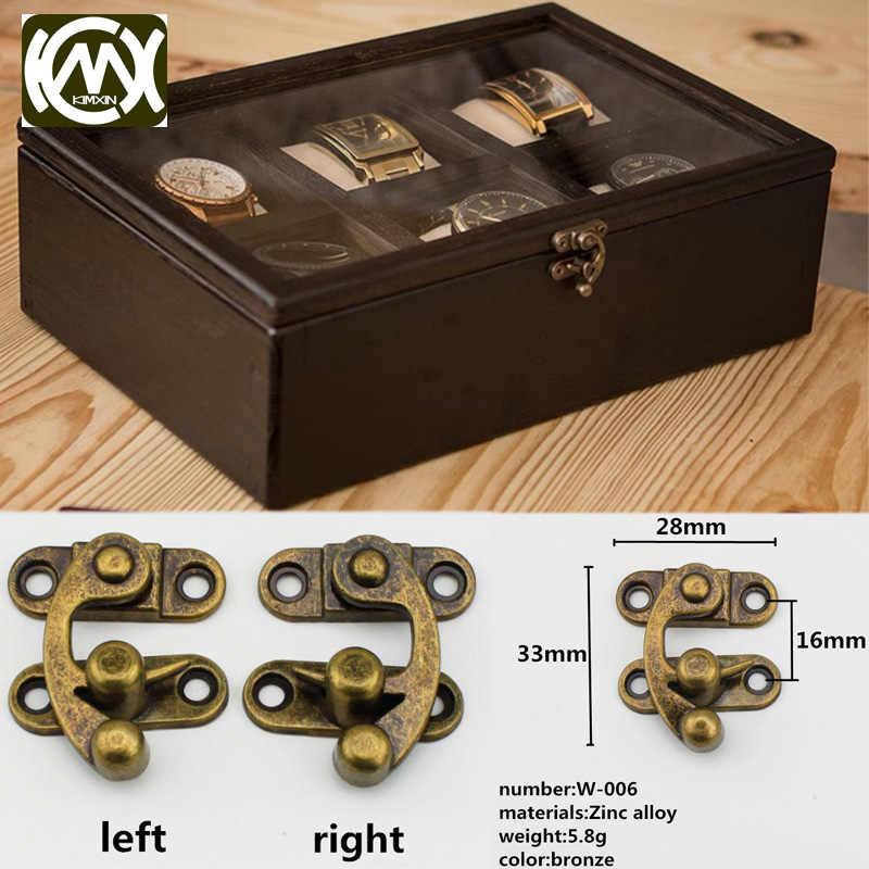 Caja de Madera Vintage Pestillo Cerrojo 7 agujero Antiguo equipaje de hardware caso de bloqueo de Hebilla