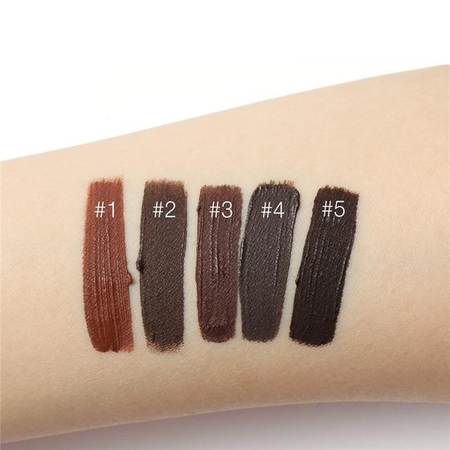 Professional Eyebrow Waterproof High Brow 5 Color Eye Makeup Tool Kit Pigment Black Brown Henna Gel With Brow Brush FOCALLURE 3