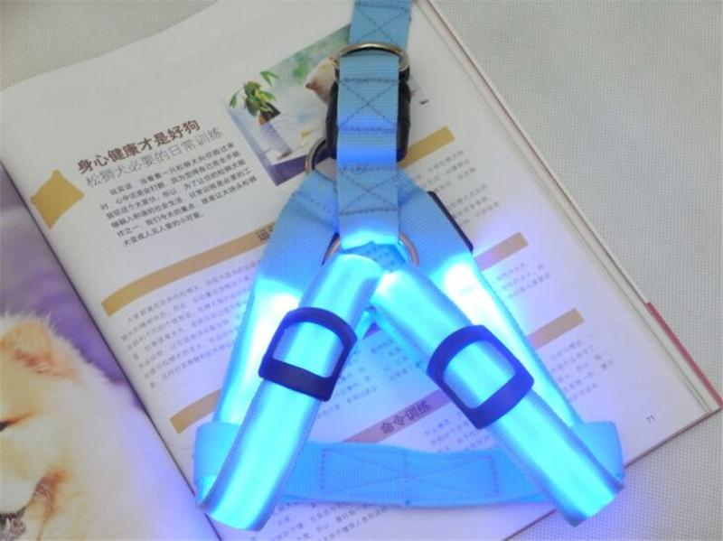 FE01 USB rechargerable dog harness LED light pet belt luminous dog harness for medium large dogs free shipping