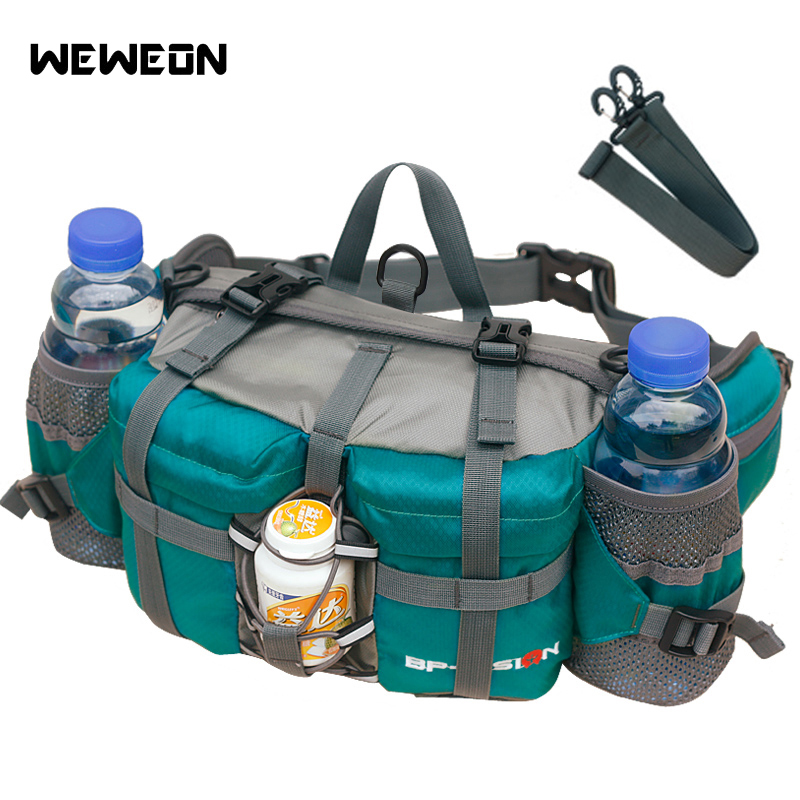 Outdoor Running Waist Bag Sport Accessories for Hiking Cycling Shoulder Bag 10 Color Foldable Tactical Pack with bottle