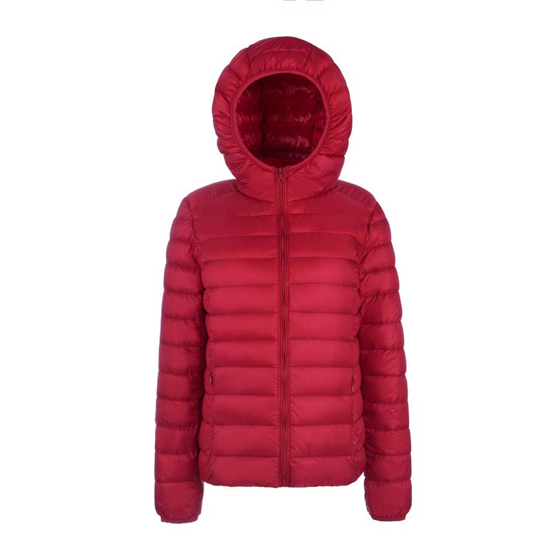 2016 high quality winter ultra light thin white duck down jacket coat women slim down jacket plus size snow parka klo541