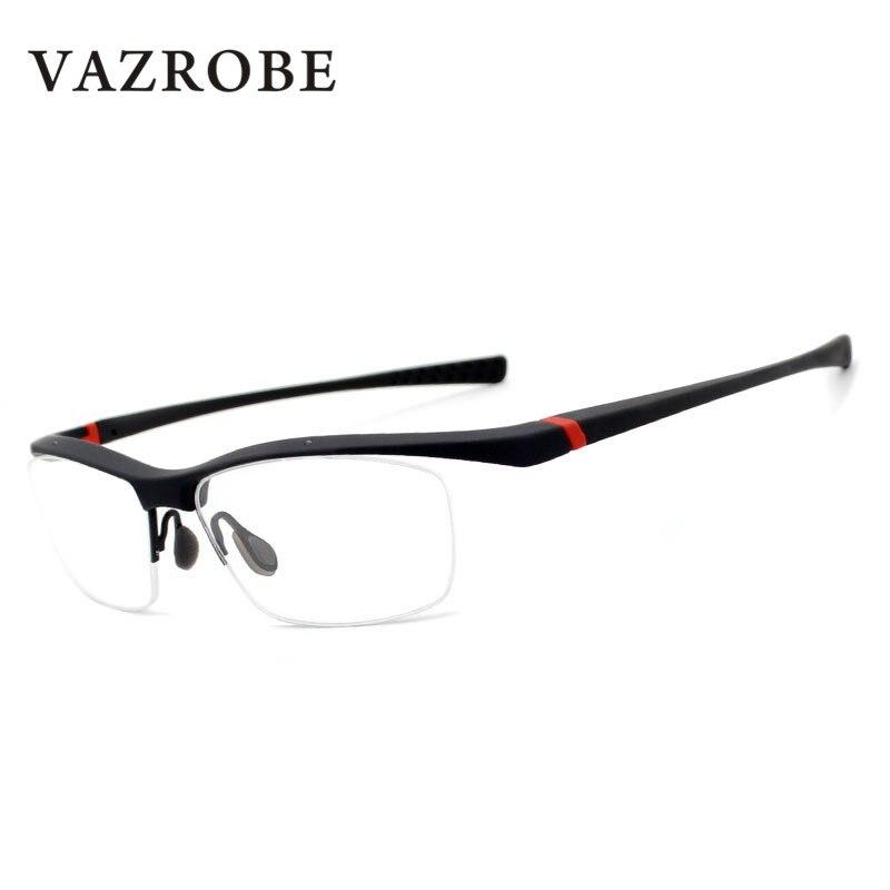 Vazrobe Halb Randlose Brille Männer TR90 Stil Brillen Rahmen für ...