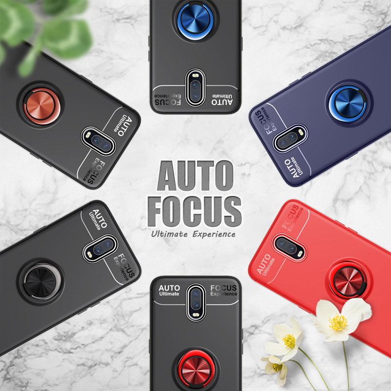 Luxury Case For OPPO R17 back cover protective TPU soft Finger Ring Car Magnet For OPPO R17 coque 6 4 quot inch in Half wrapped Cases from Cellphones amp Telecommunications