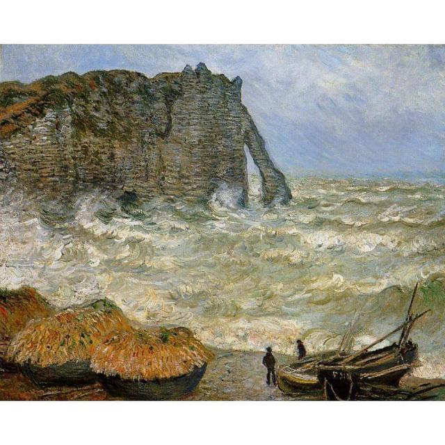 Paesaggi marini di Arte Immagine Pittura di Claude Monet su Tela ...