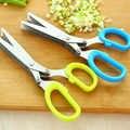 5 schichten Klinge Scallion Schere Multifunktionale Küche Geschreddert Messer Obst Gemüse Cut Kraut Gewürze Kochen Werkzeuge