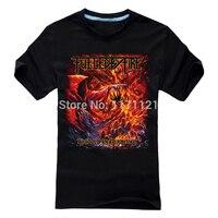 Gratis verzending Aangewakkerd Door Brand Gevangen In Perdition Review As van Meheavy metal Death metal mannen Nieuwe BlackT-shirt in zomer
