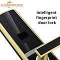 Biométrico de huellas dactilares cerradura de puerta inteligente con buena calidad Del Envío Libre de Oro de Color