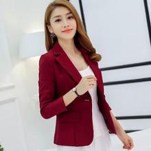Single Button Business Ladies Blazers Women 2019 Spring Autu