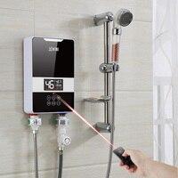 7000 Вт быстрый нагрев мгновенный Электрический водонагреватель бытовой Ванная комната Кухня Аренда комнаты постоянной температура настенн