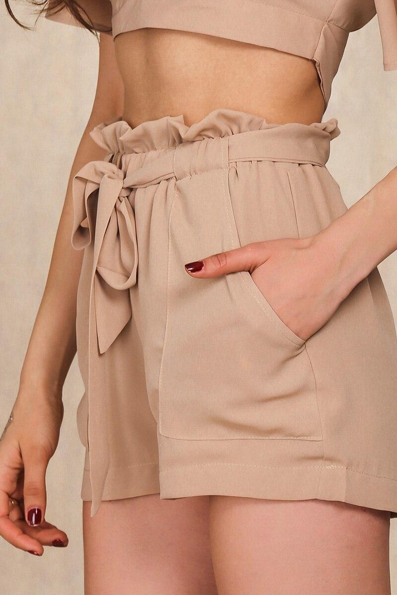 HTB14wBpLFXXXXX5XVXXq6xXFXXXH - Chiffon shorts Bow high waist  belt PTC 94
