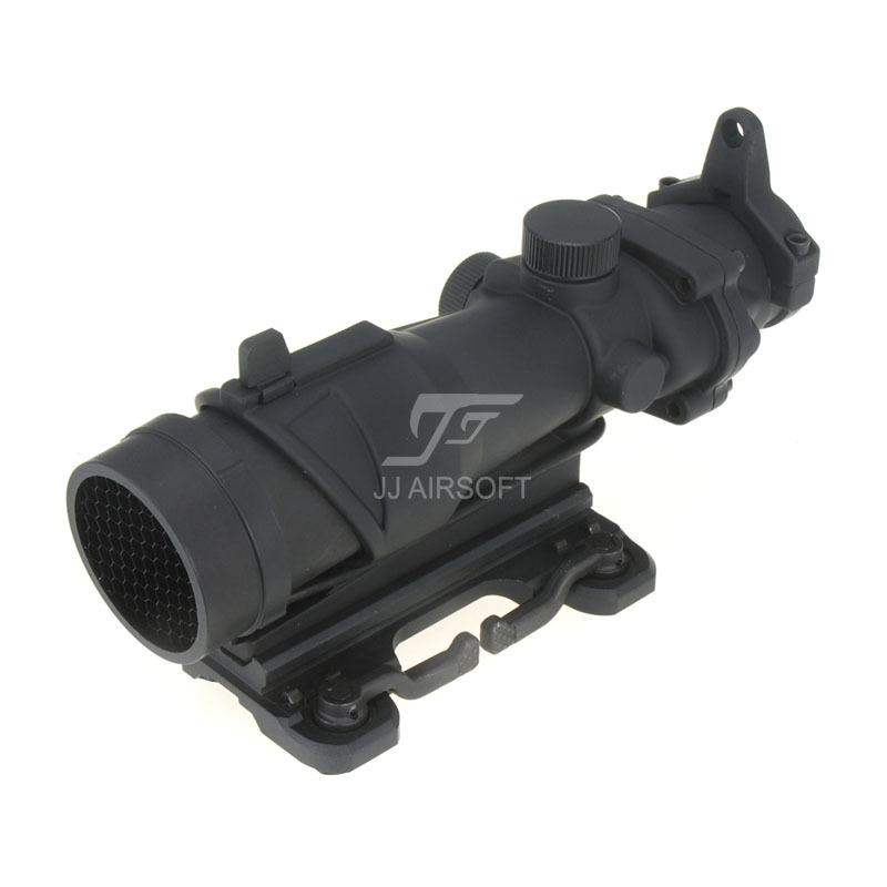 JJ Airsoft ACOG Style 4x32 Scope with QD Mount & Killflash / Kill Flash (Black) FREE SHIPPING jj airsoft acog style 4x32 scope with docter mini red dot light sensor black free shipping