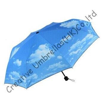 2150805b7 Drop shipping permitidos, três vezes, blue sky projeto, manual, à prova de  vento, supermini, bolso guarda, proteção UV, revestimento preto