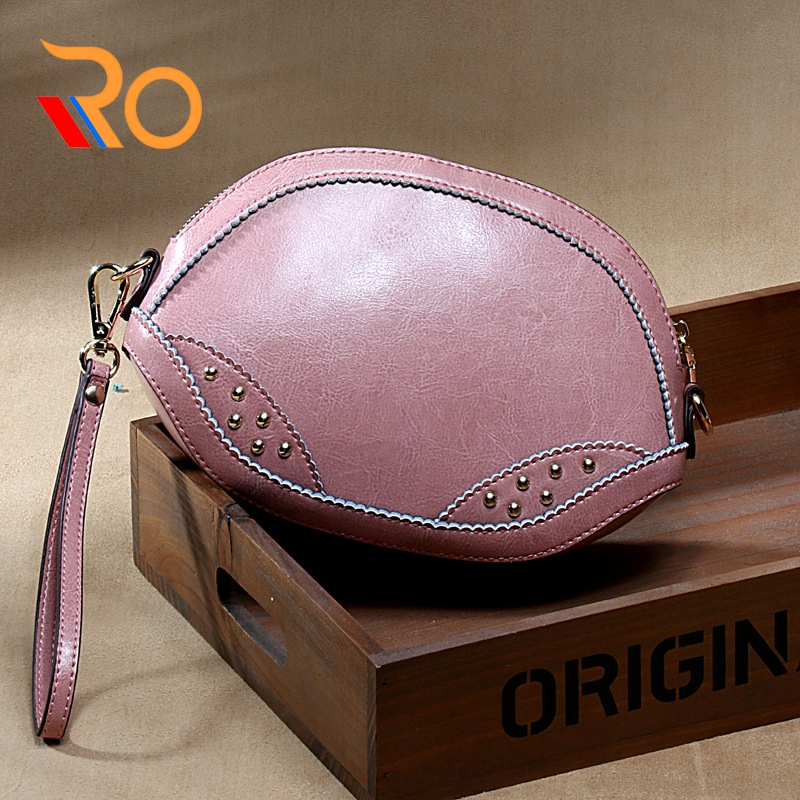 Guarantee 100% Genuine Leather Women's Messenger Vintage Shoulder Bag Female Cross-body Soft Casual Shopping Bags
