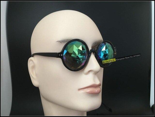 d34d793a25eb2 Fashion Retro Round Kaleidoscope Sunglasses Men Women Designer Eyewear  Kaleidoscope lens Glasses oculos de sol