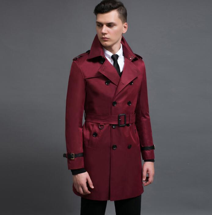 Spring autumn 2019 new designer casual   trench   coats mens long coat men clothes slim overcoat man long sleeve european fashion
