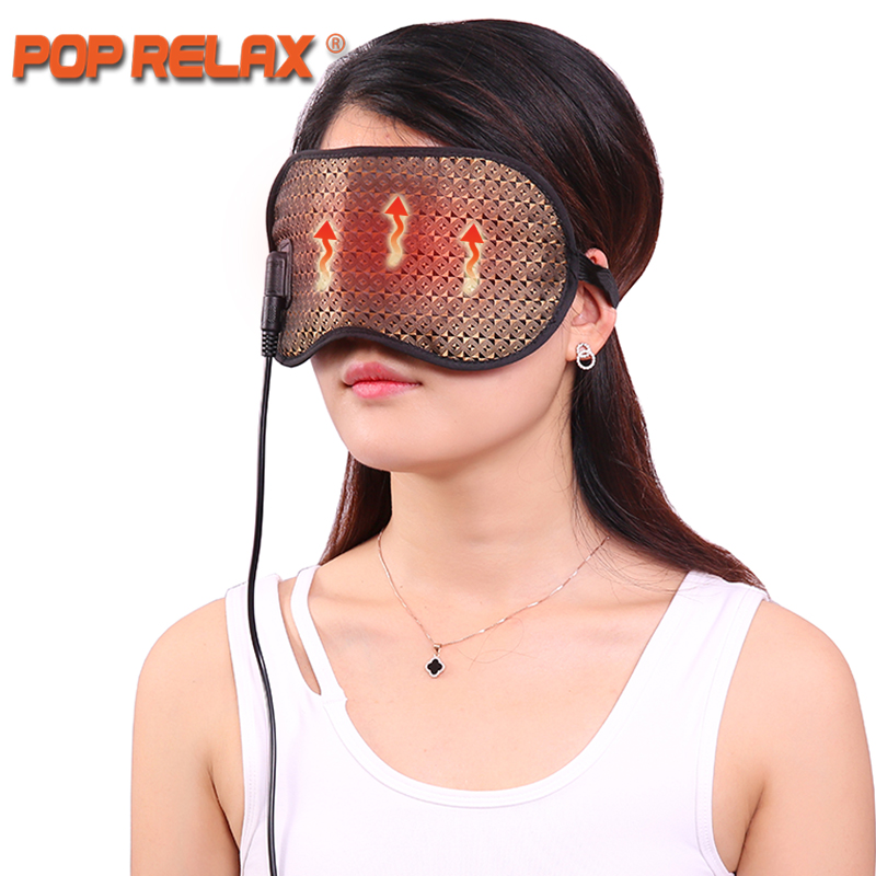 POP RELAX Korea tourmaline germanium thermal eye mask health electric heating therapy eye care traveling facial face sleep mask pop relax health care bracelet korea tourmaline germanium ceramic stone bracelet women negative anion physical therapy powerful