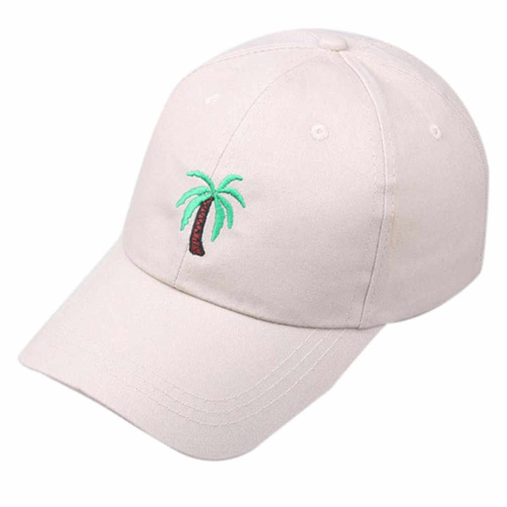 Unissex baseballcap verão ao ar livre palmeira impresso viseira boné de beisebol chapéu ajustável czapka baseballcap casquette de beisebol