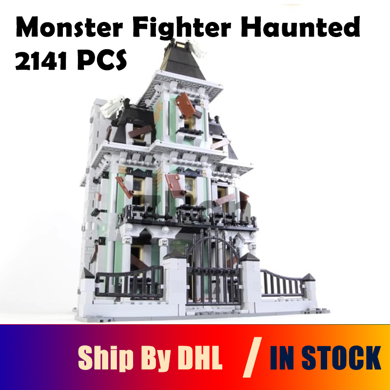Compatible with lego 10228 Model Building 2141Pcs City Monster Fighter Haunted House Kits Figure Blocks Bricks Toys hobbies lepin 16007 2141pcs monster fighter the haunted house model set building kits model compatible with 10228 educational toys gifts