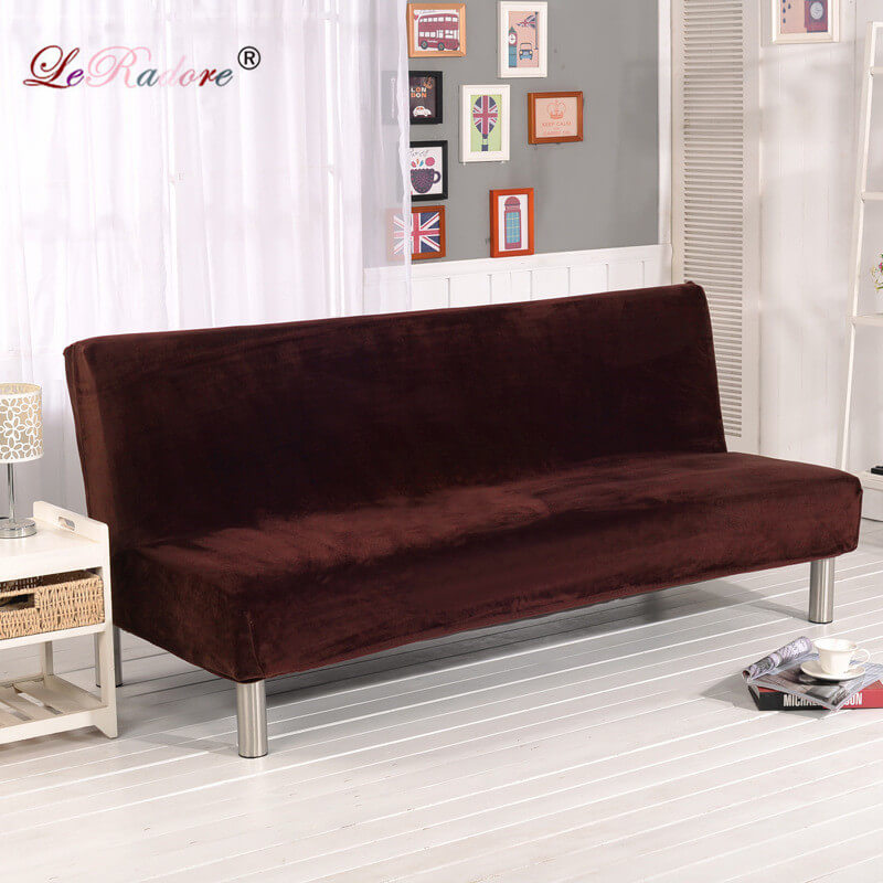 LeRadore All inclusive Solid Sofa Covers for winter No Armrest Folding Mat Combination Towel Art Sofa Bed Decor 180 to 210cm