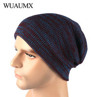 Wuaumx Fashion Autumn Winter Hats For Men Unisex Simple Hip Hop   Skullies     Beanies   Hat Male Outdoor Ski Knitted Cap czapka zimowa