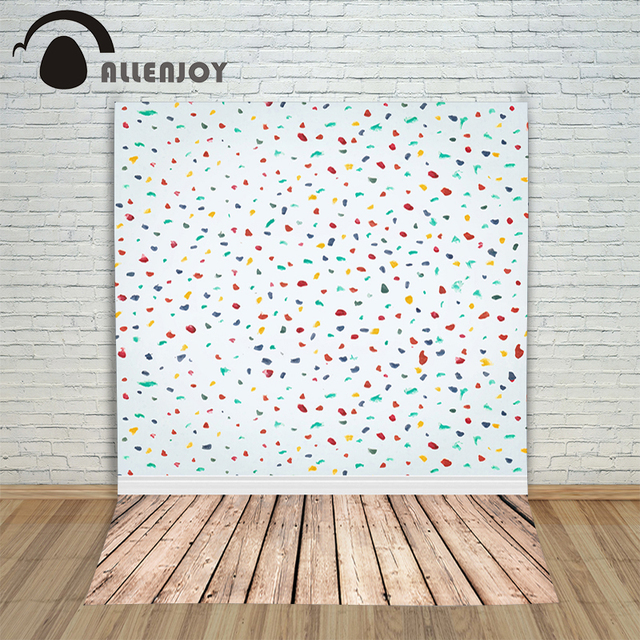 Allenjoy Photography Background Colorful Wall Wood Children Professional Photocall Backgrounds For Photo Studio New