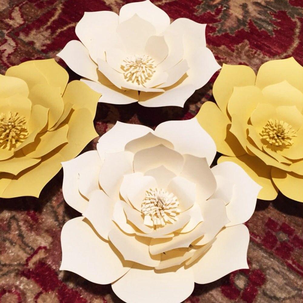 Online Shop MEIDDING-2pcs diy Paper Flower Backdrop,20cm Paper ...