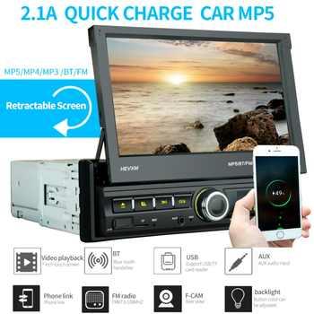2 Din auto Radio Bluetooth enlace espejo 2din Multimedia REPRODUCTOR DE PANTALLA TÁCTIL retráctil MP5 USB Audio Estéreo