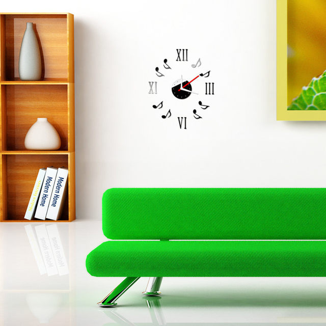 clock wall stickers living room wallpaper Note Music Notation DIY Self Adhesive Interior Wall Creative Decoration bedroom decals  sc 1 st  Aliexpress & Online Shop clock wall stickers living room wallpaper Note Music ...
