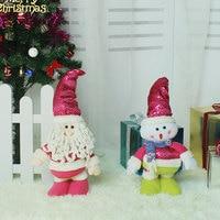 Top Sale Christmas Dimensional Cartoon Telescopic Dolls Festival Decor Tools Home Room Ornaments Tree Decorations