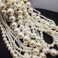 ABS Pearl Loose Beads 3mm 30mm Imitation resin Loose Acrylic Pearl Beads ball Round Chunky Necklace DIY beads
