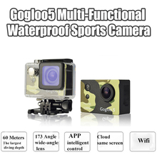 Gogloo action camera Gogloo5 kamera 60m waterproof sport camera WiFi 1080P video/ voice recorder 12million px Free shipping