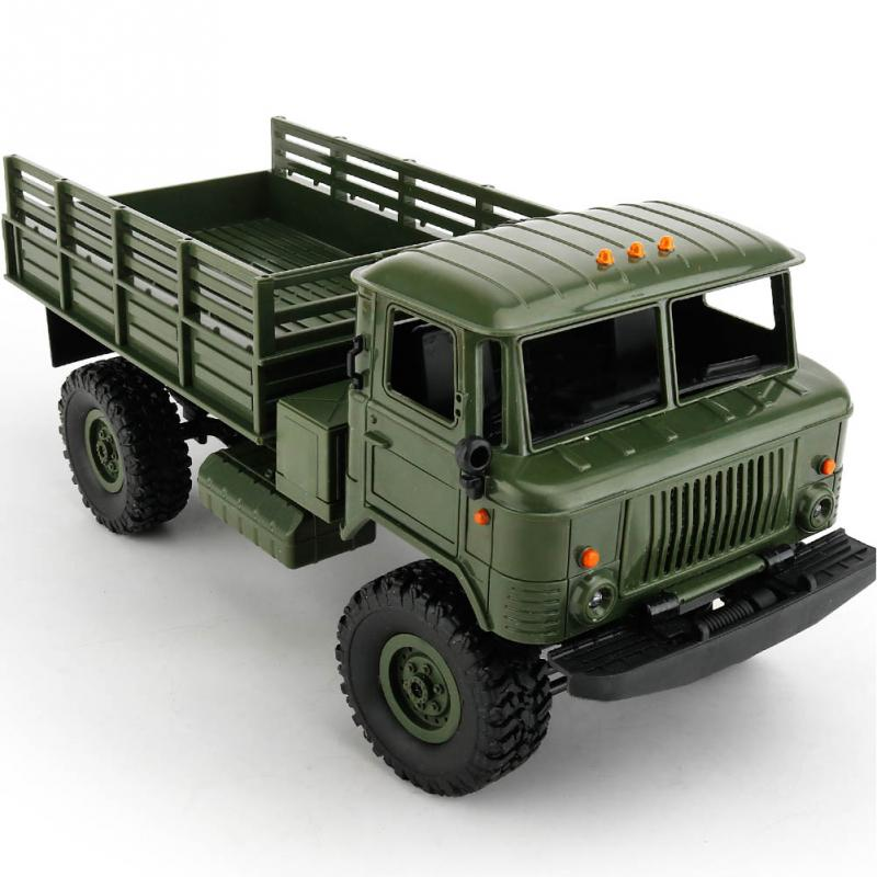 1:16 Military Four-wheel Drive 2.4G 4CH 10KM/H Off-road Remote Control Climbing Car Model For WPL B-24