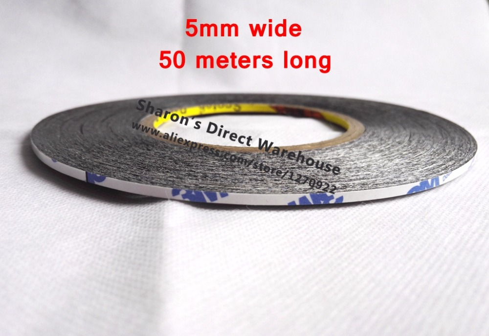 5mm wide, Common Use Double Adhesive Tape for Tablet Phone Pad Screen LCD Display Frame Bond 20mm 55m 0 17mm 3m 300lse 9495le super strong double sided adhesive transfer tape for iphone tablet phone mini pad touch lcd