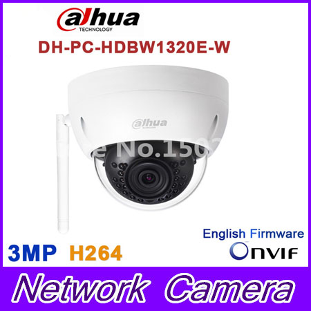 Original Dahua 3MP IPC-HDBW1320E-W dome IP Camera wifi Network IR security cctv Dome IP CCTV Camera Support wifi IPC-HDBW1320E-W dahua ip wifi easy4ip camera 3mp ipc hdbw1320e w wifi camera p2p cctv camera micro sd card slot up to 128gb