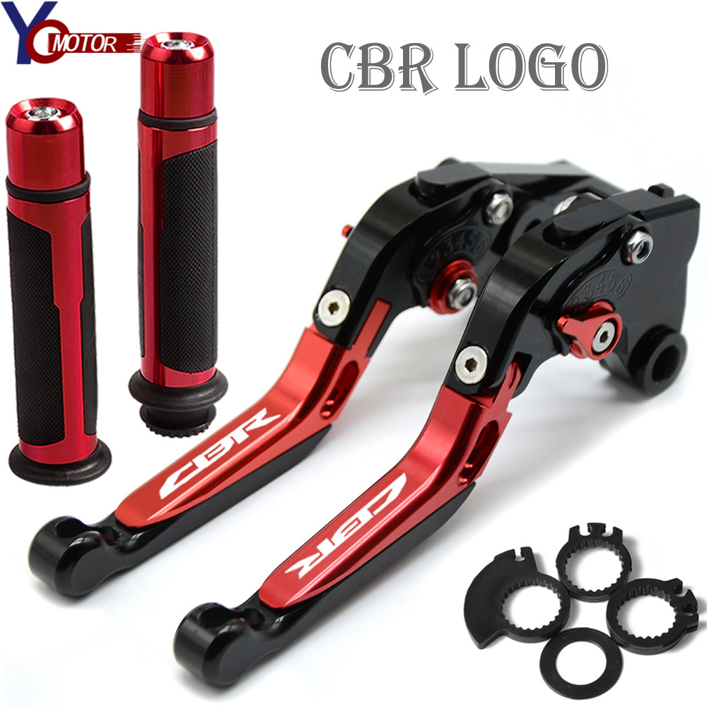 Motorcycle Accessories Folding Brake Clutch Levers Handlebar handle grips FOR HONDA CBR600RR <font><b>CBR</b></font> <font><b>600</b></font> RR 2003 2004 <font><b>2005</b></font> 2006 image