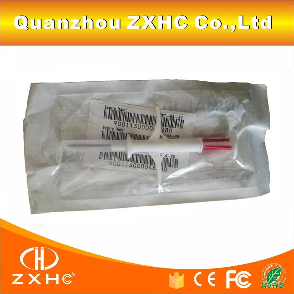 (10PCS/LOT) RFID Glass CapsuleTag Implant Microchip FDX-B 134.2Khz EM4305 12mm*2.12mm with Syringe