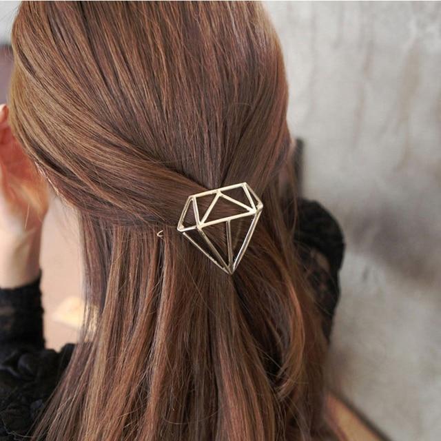Princess Diamond Hairpins Hair Accessories Hollow Girls Tiaras Barrettes Headwear Women Party Hair Clip Jewelry