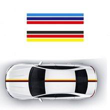 1 rulo araba Sticker PVC araba tüm vücut plakası yangın alev dekor vinil çıkartmaları fransa almanya İtalya bayrağı BMW M renk