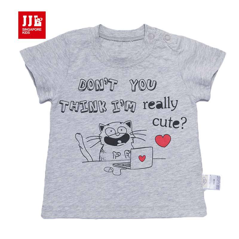 baby boys t shirts kids tshirt short sleeve size 1-3t infant tops summer kids clothes newborn baby clothes 2016 summer