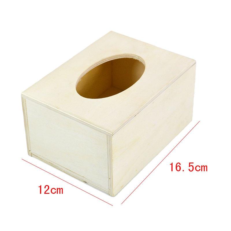 household products wooden handmade tissue box napkin case holder mud base diychina