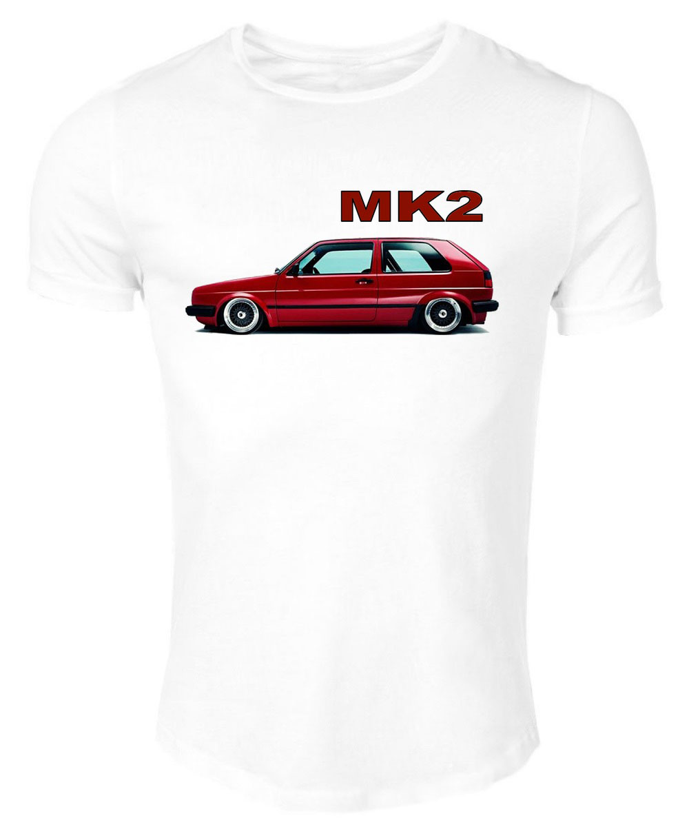 T-Shirt White Germany Classic Legend Car Golf Gti Red Mk2 Summer 2019 Cotton Men Fashion Style Fitness Brand Movie T Shirt image