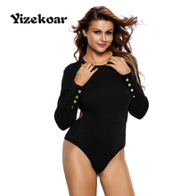 2017 new arrival sexy long sleeves ribbed texture bodysuit buttons stylish cut out back teddy bodysuit open cortch style DL32088