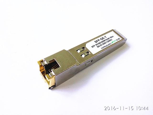 Китай Оптовой Оптические Волокна 1000 М 10/100/1000 М Медный Трансивер SFP GLC-T RJ45 Разъем