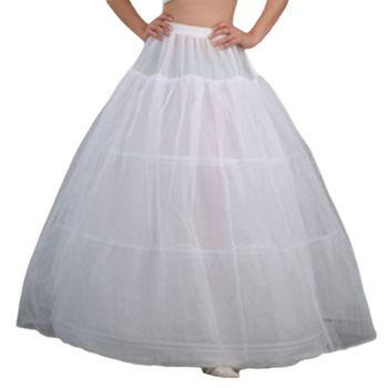 942ca9f3e142136 Женские свадебные 3 Обручи Макси-Длина юбка пояс на завязках Multi-Слои  бальное платье свадебное платье суеты кринолин нижняя