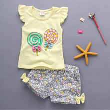 2019 1 year birthday infant baby girl clothing sets for newborn baby girls summer clothes wear sports suit babies outfits sets cheap Active REGULAR cotton polyester O-Neck Herringbone Pullover Print BarbieRabbit Short Fits true to size take your normal size