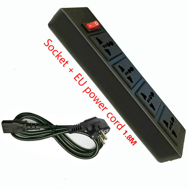 The Word Plug Black 4 Way Universal Socket Outlet PDU with Switch ...