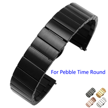 Smart Watchband 20mm Quality Solid Stainless Steel Watch band For Pebble Time Round Mens Steel Strap
