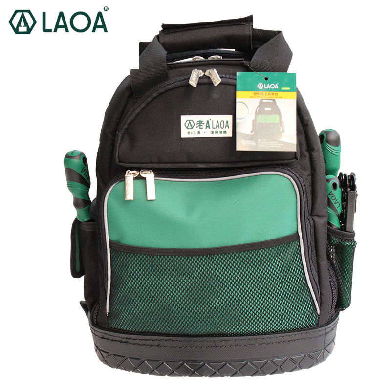 LAOA Shoulders Backpack Tool Bag Multiction 1680D Oxford Cloth Electrician Bags For Eletricista Tools Storage Without Tools ballistic nylon tools bag for tools storage 280x245x180mm