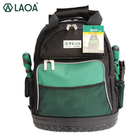 LAOA Shoulders Backpack Tool Bag Multiction 1680D Oxford Cloth Electrician Bags For Eletricista Tools Storage Without